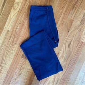 Shinestar Royal Blue Wide Leg Linen Blend Pants